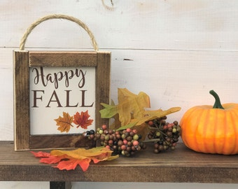 Happy Fall Sign, Fall Sign, Farmhouse Decor, Farmhouse Fall, Farmhouse Sign