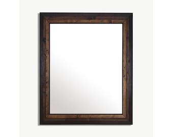 Reclaimed Wood Mirror | Wood Mirror | Modern Mirror | Large Wall Mirror | Vanity Mirror | Bathroom Mirror | Wall Mirror | Large Wood Mirror