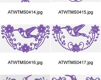 Hummingbird-Fantasy ( 10 Machine Embroidery Designs from ATW ) XYZ17F
