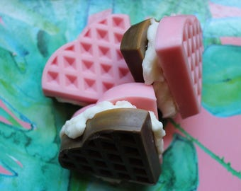 Neapolitan Ice Cream on Waffles | Scented Soy Wax Waffle Melts | The Waxy Bar