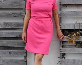 Gorgeous Bubblegum Pink 1960s Dress Suit