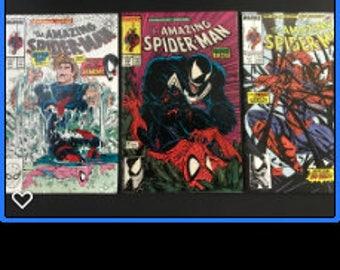 Amazing Spiderman #315, 316, 317 lot