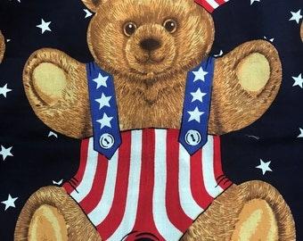 Patriotic Bear Applique