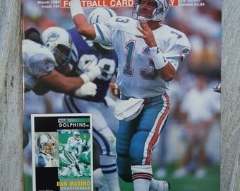 Dan Marino - Vintage Miami Dolphins - Miami Dolphins gift - Dan Marino gift - 1992, Vintage football decor, Football gift, Beckett magazine