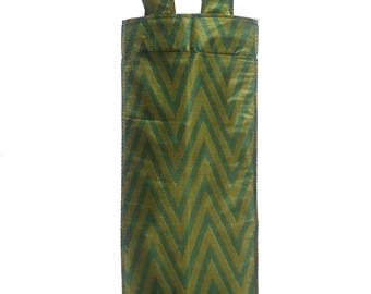 Wine Bags : Lined Wine Tote Bags made from premium upcycled sari material