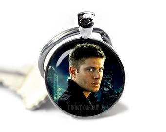 Dean Winchester Key Ring Supernatural Keychain Dean Winchester Keyfob Keychain Geeky Fangirl Fanboy