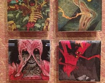 Monster Comic Magnet Set