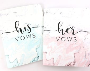 Wedding Vow Books, His and Hers Vow Books, Vow Booklets, Vow Notebooks, Wedding Keepsake - FPS00VB1