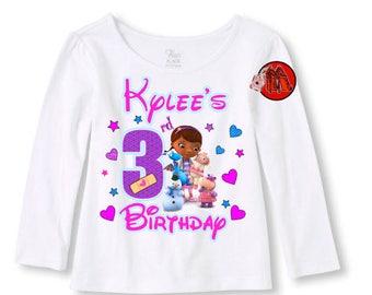 Doc McStuffins Birthday Shirt Long Sleeve T-shirt