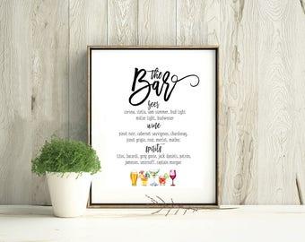Custom Event Bar Sign | Wedding Sign | Event Sign | Wedding Signage | Digital Download | Custom Wedding Sign | Cocktail List | Bar Sign