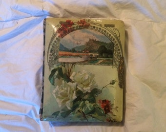 Beautiful Antique Photo Album - Celluloid with Cabinet Cards