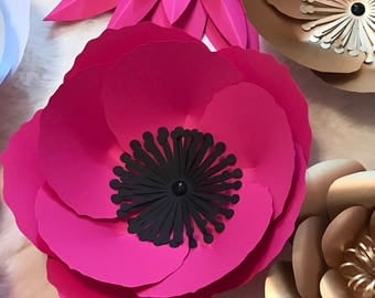 Hard Copy Template 11 Large Paper Flower