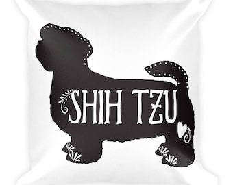 Shih Tzu Decorative Pillow, Shih Tzu Throw Pillow