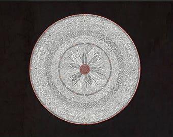 Red flower mandala