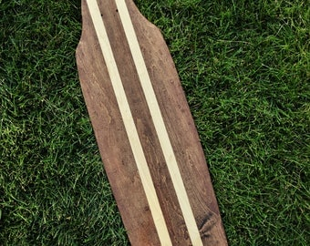 Custom Red Mahogany With Natural Surfstripes Longboard/Skateboard Cruiser
