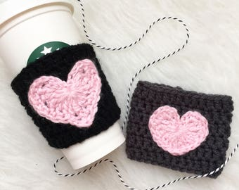 Coffee Cozy - Coffee Sleeve - Coffee Cup Cozy - Cup Sleeve - Your Have My Heart - Eco Friendly - Crochet Cozy - Coffee To Go