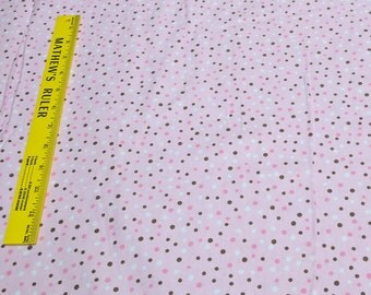Polka Dots on Pink Cotton Flannel Fabric from JoAnn Fabrics