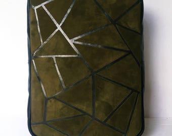 Green suede handbag | Etsy