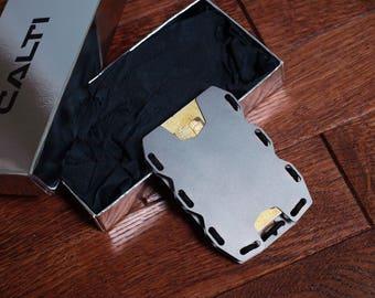 Tactic Titanium Minimalist Slim Wallet, RFID Protect, Mens Wallet, Business Card Holder, Front Pocket Wallet, Tactical Wallet, Metal Wallet