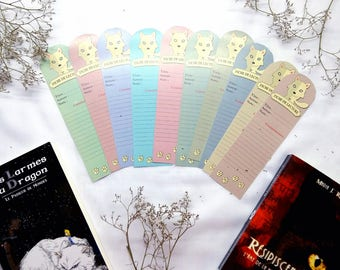 Set of 10 sheets of reading bookmark: Wolf