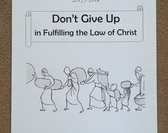 ENGLISH Teen/Adult Circuit Assembly JW Notebook Don't Give Up in Fulfilling the Law of Christ with Branch Representative 2017/18