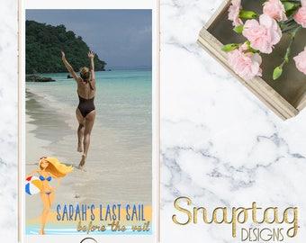 Custom Snapchat Geofilter|| bachelorette, last sail before the veil, vegas, birthday, custom, geofilter, beach, miami, mr and mrs, filter