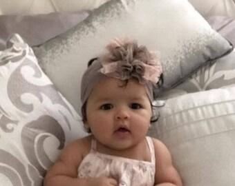 Baby Girl Headband, newborn headband, Baby Girl Flower Headband, Baby shower gift, Baby Accessory, headbands for babies,flower headband baby