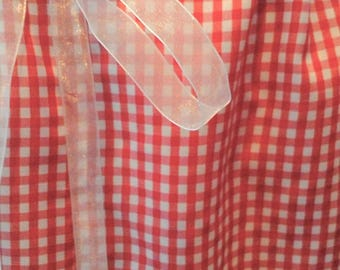 Red Small Gingham Check Skirt