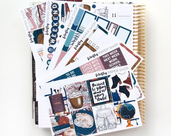 Study Date Weekly Kit (stickers for Erin Condren Life Planner - Vertical)