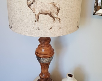Standing Stag Drum Lampshade - handmade lamp shades in 3 sizes!