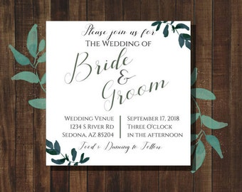 Wedding Invitation *PDF PRINTABLE*