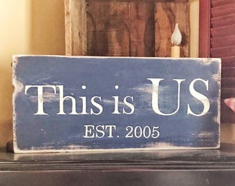 Wedding Established Sign-Wedding sign-Wedding gift-EST sign-Established sign-Family sign-Family wood sign-This is us