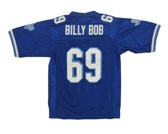 Billy Bob Football Jersey # 69 West Canaan Coyotes As Worn In Varsity Blues Movie Uniform Team Shirt Lineman Player Gift Costume Adult Blue