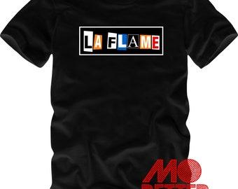 Custom Printed La Flame Black T-Shirt Travis Scott