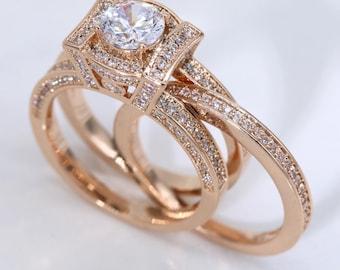 1.8 cttw Round Cut Insert Bridal Ring Set #1006