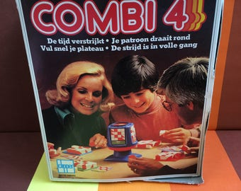Vintage Combi 4 Game Clipper Time Goes By Your Pattern Revolves Around Fill Your Pattern Quickly The Battle is in Full Swing 70s