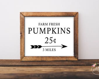 Pumpkin Fall Printable - Instant Download