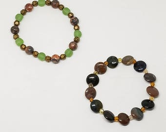 CLEARANCE Earthy Stretch Bracelet Set