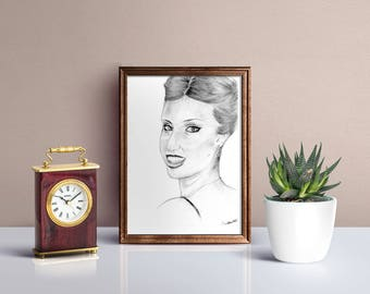 Custom portrait from photo, drawing on Commission, Custom portrait, gift for her and him, pencil drawing, portrait from photo staff