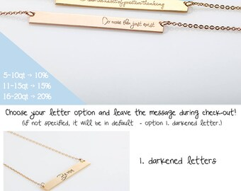 Silver Coordinates Necklace, Rose Gold Initial Bar Necklace, Gold Bar Name Necklace, Rumal Numeral BFF Necklace, Bridesmaid Gift on a budget