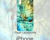 Flash Labradorite Gemstone Print Phone Case, Mineral Rock Print, Rockhound gift, iPhone X, 7/8P, 7/8, 6/6sP, 6/6s, Galaxy S7/S7 Edge, S8