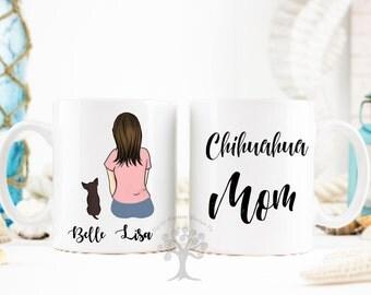 Chihuahua Mug, Chihuahua Mom Mug, Chihuahua Custom Mug, Chihuahua Gift, Custom Pet Mug, Personalized Chihuahua Mug, Gift For Chihuahua Lover