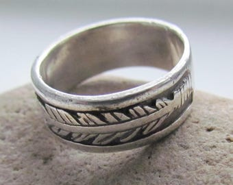 Mens Gift Ring For Men Vintage Him Signet 925 Sterling Silver Jewelry
