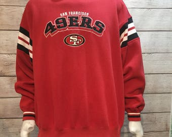 Vintage NFL Football San Francisco 49ers Crewneck Sweatshirt Sweater