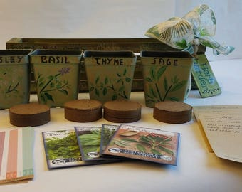 CUSTOM ORDER   Herb Gardens, Gift Baskets And Containers, Planters, Custom  Gift Wrap