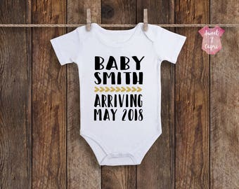 Baby Announcement Onesie, Pregnancy Announcement Onesie, Baby Announcement, Pregnancy Announcement, Baby Reveal, Baby Onesie, Custom Onesie