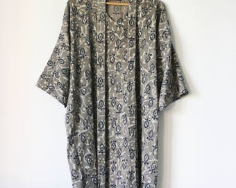YANAYI Dress | indian hand block printed, natural dye, vegetable dye, cotton, oversized, loose, boho, floral, pattern | by Kochab