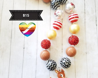 Rudolph the Red Nose Reindeer Bubblegum Necklace