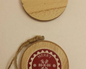 personalized Christians decoration  - sign -plaque - tree decoration - Christmas tree  - Christmas present - Mr & Mrs - first Christmas