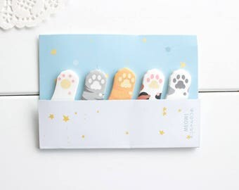 Cat Paws Sticky Notes,  Cute Sticky Notes, Paws Stickers, Post-it notes (SN-150)
